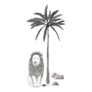 Tree & Lion Sticker Xl | Serengeti | Lilipinso