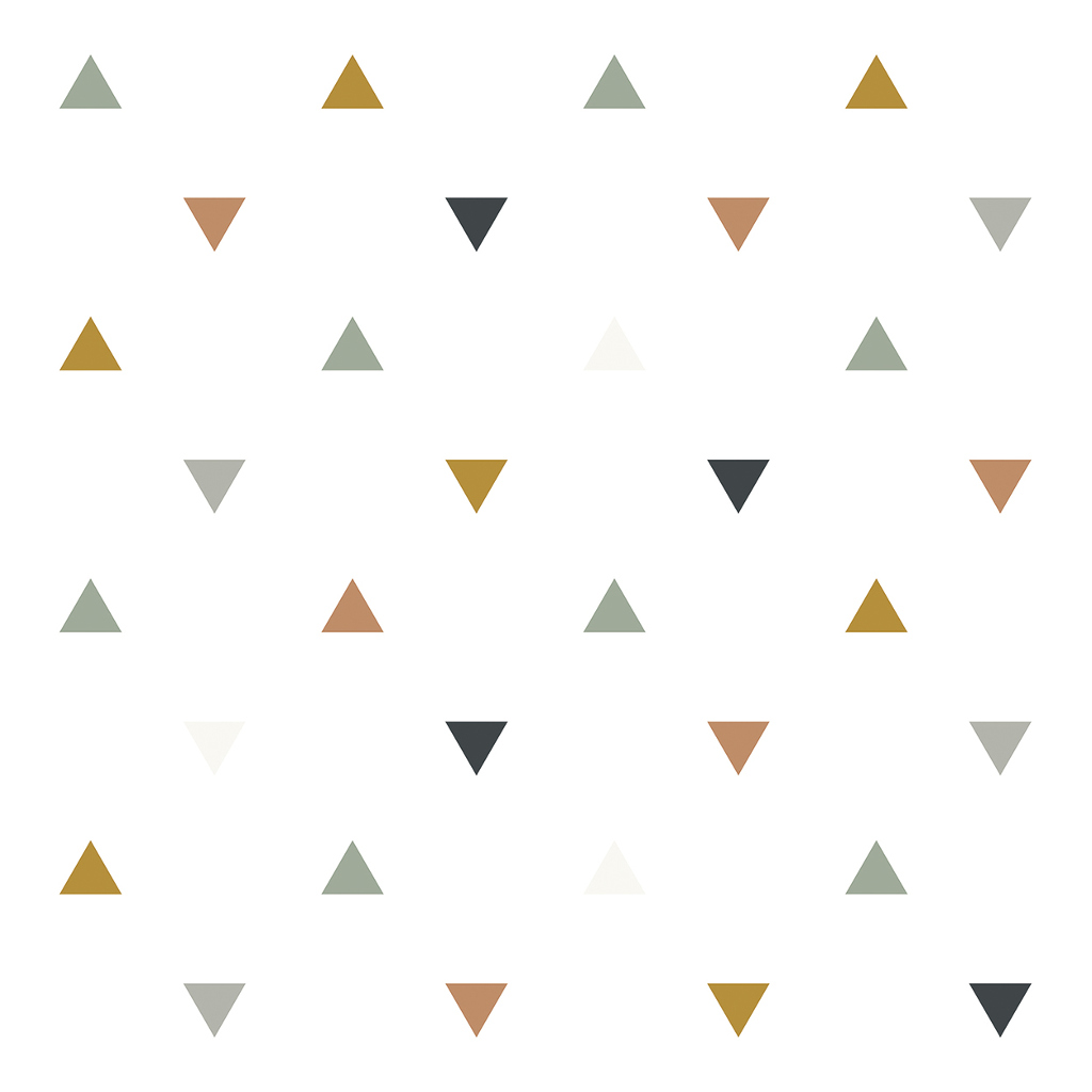 Triangles Blue Grey Beige Behang Enchanted Lilipinso lili-h0458