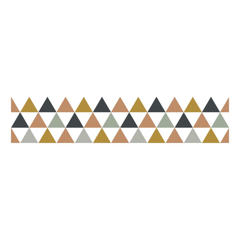 Triangles Blue Grey Beige Behangrand | Enchanted | Lilipinso