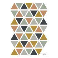 Triangles Boy Muursticker A3 | Enchanted | Lilipinso