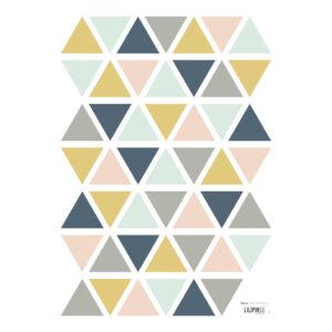 Triangles Girl Muursticker A3 | Enchanted | Lilipinso