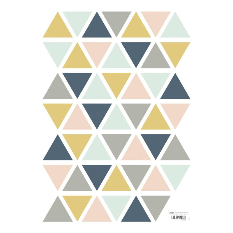 Triangles Girl Muursticker A3   Enchanted   Lilipinso