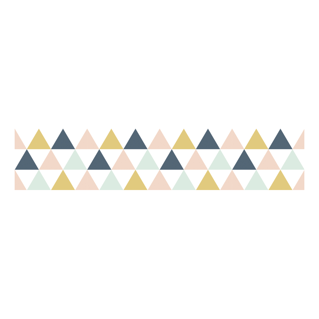 Triangles Pink Grey Mustard Behangrand | Enchanted | Lilipinso