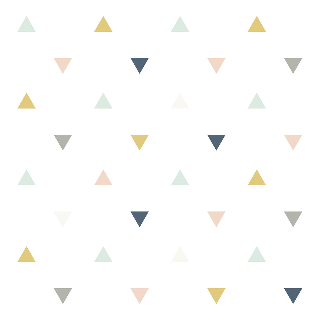 Triangles Pink Mustard Grey Behang Enchanted Lilipinso lili-h0459