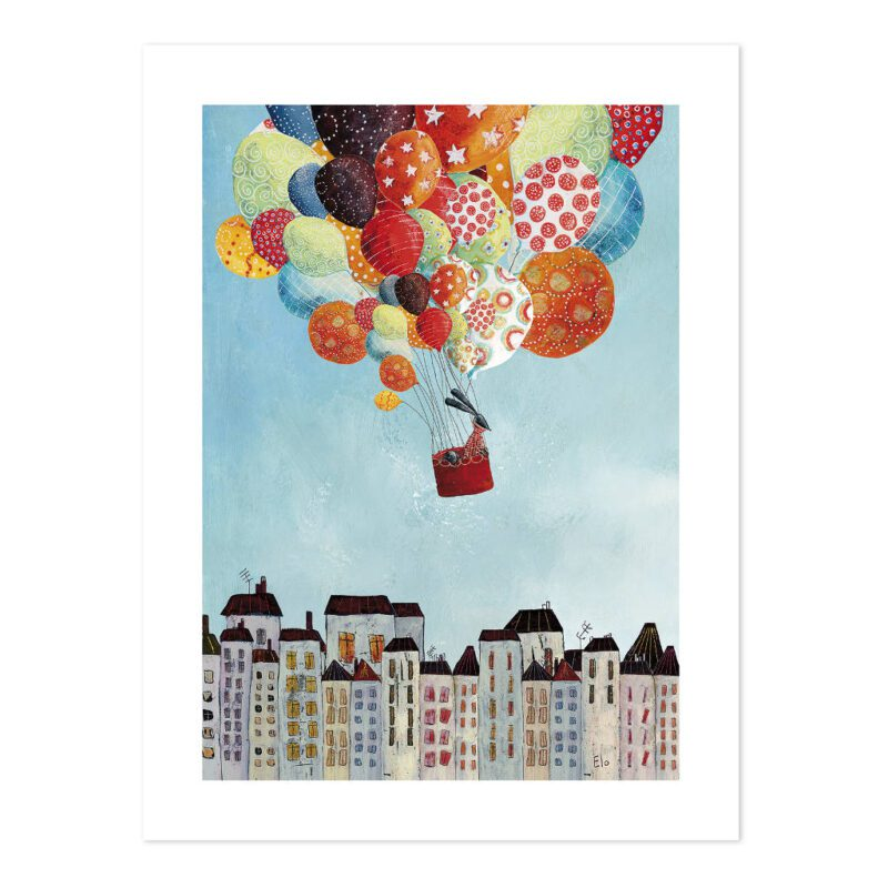 Trip Over The City Poster | In Volo | Lilipinso