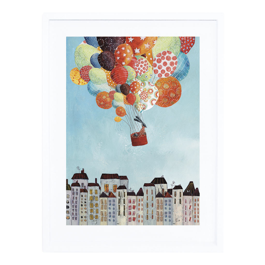 Trip Over The City Poster Met Lijst In Volo Lilipinso lili-p0270