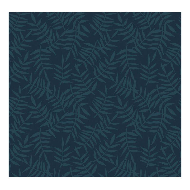 Tropical Leaves Dark Blue Behang | Lilipinso