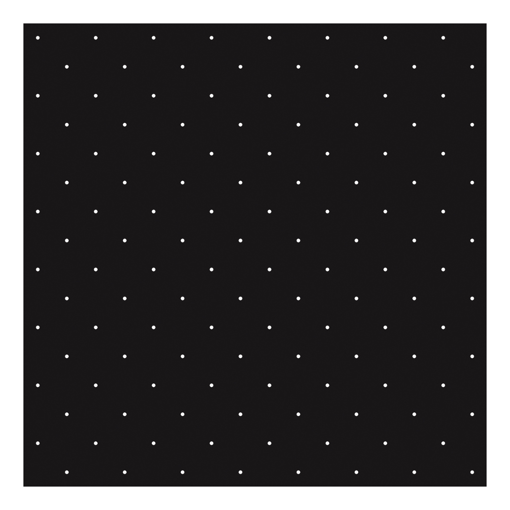 White Polka Dots On Background Black Behang | Rosae | Lilipinso