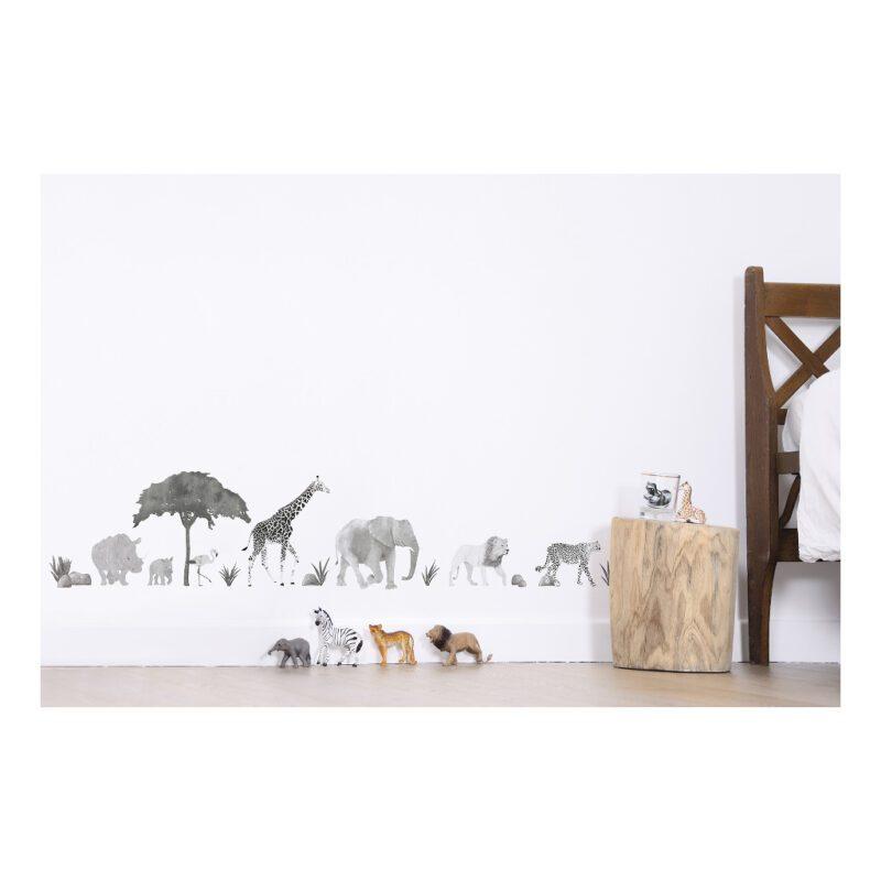 Wild Animals Muursticker A3   Serengeti   Lilipinso