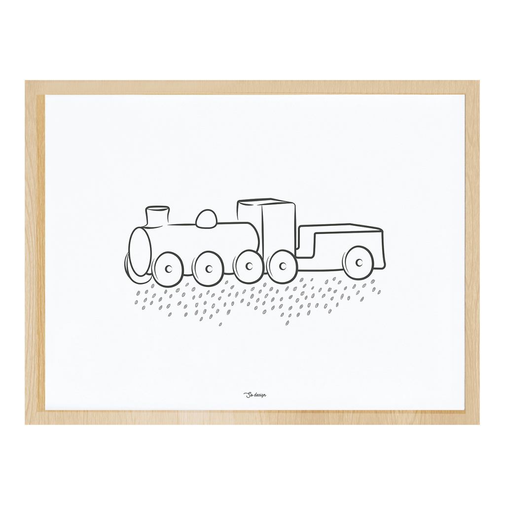 Wild West Steam Engine Poster Met Lijst Lilipinso lili-p0267