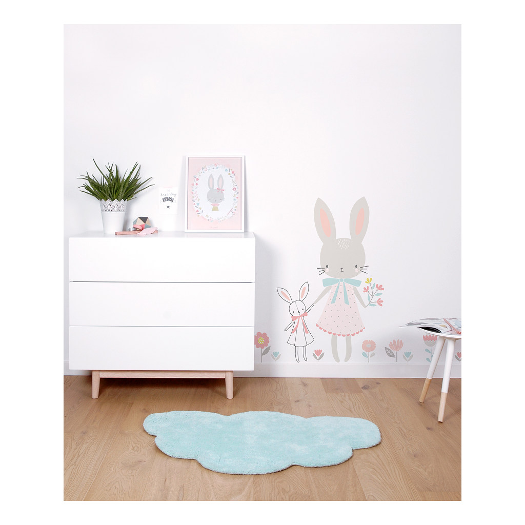 Wolk Aqua Vloerkleed Lilipinso Decoratie Combinatie Lili-H0295