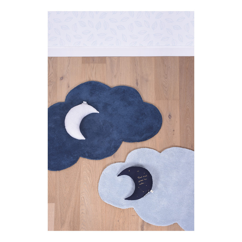 Wolk True Navy Vloerkleed Nuages Lilipinso Babykamer Lili-H0349