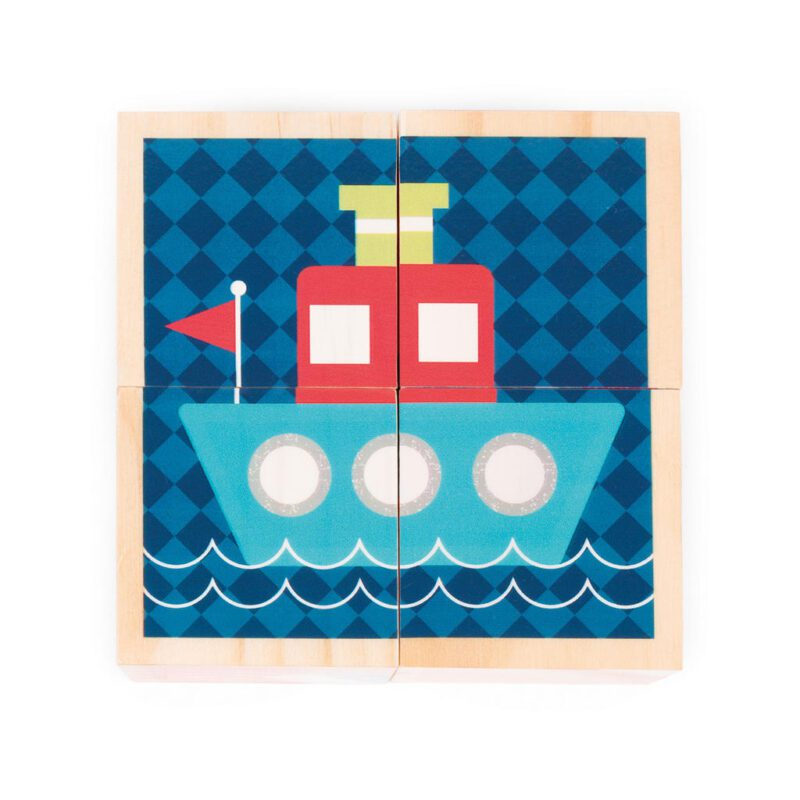 Eerste Woordjes Blokken Janod Boot Schip Janod Jano-11.8002