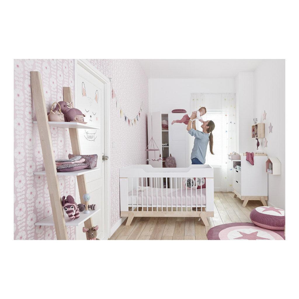 2 In 1 Baby En Junior Ledikant Lifetime Kidsrooms Babykamer Bedje Spijlen Life-7032