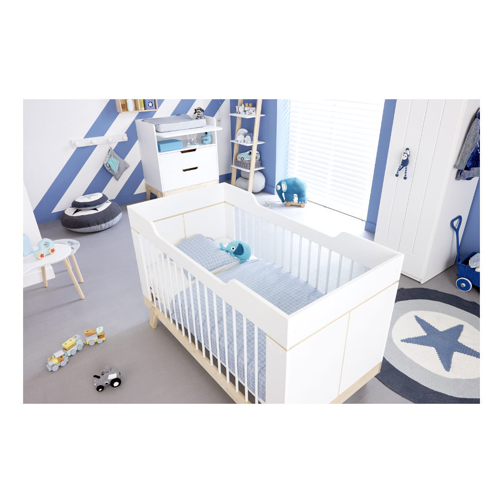 2 In 1 Baby En Junior Ledikant Lifetime Kidsrooms Babykamer Stoer Life-7032