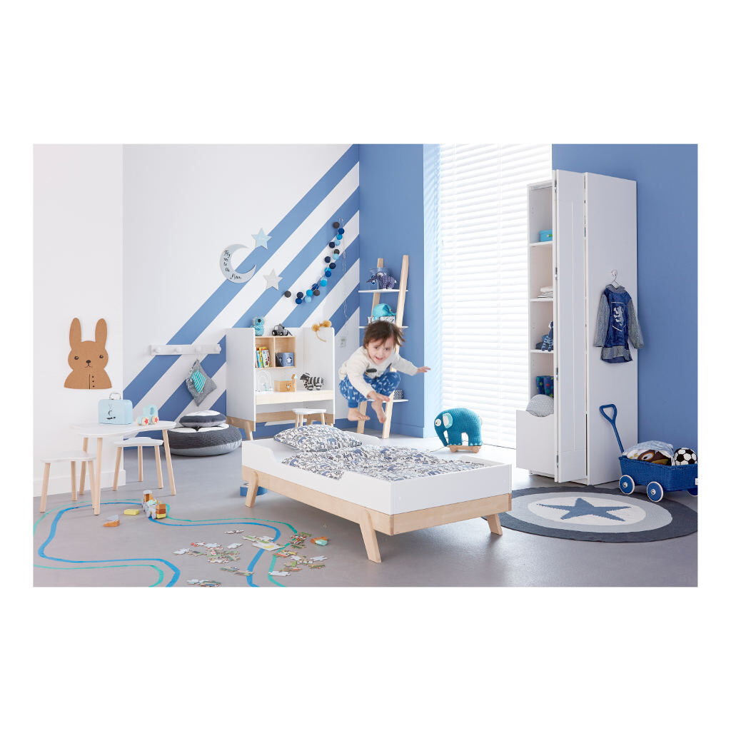 2 In 1 Baby En Junior Ledikant Lifetime Kidsrooms Meegroeikamer Jongens Boys Life-7032