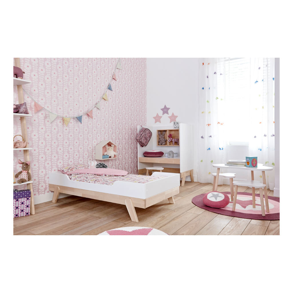 2 In 1 Baby En Junior Ledikant Lifetime Kidsrooms Meegroeikamer Meisjes Life-7032
