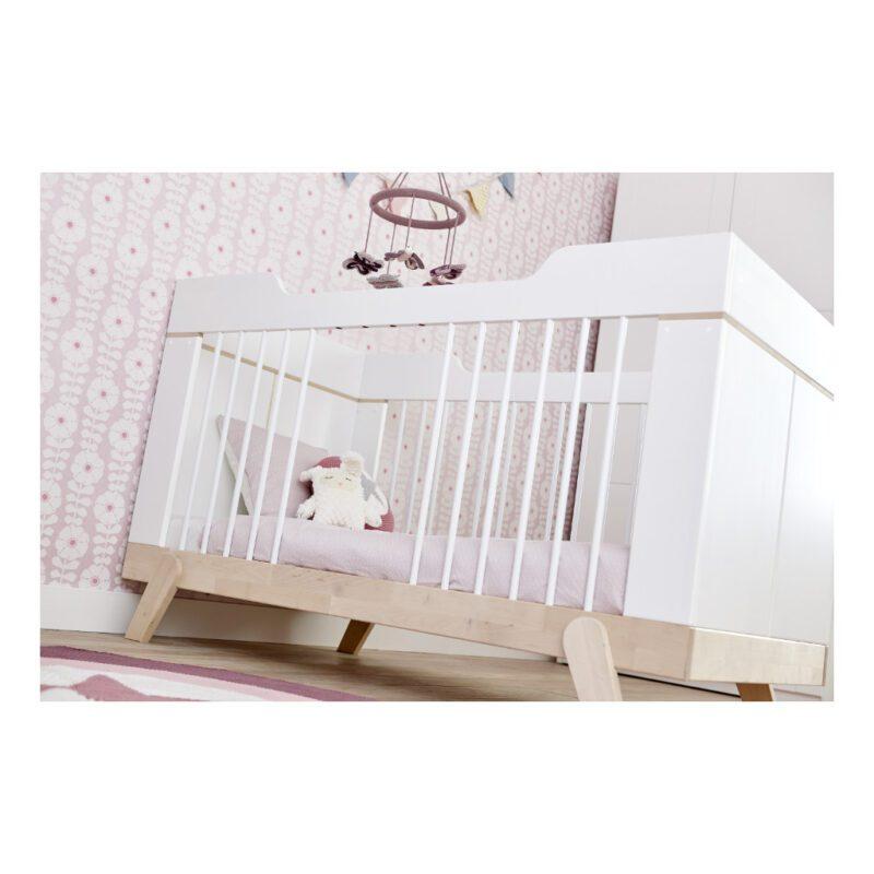 2 In 1 Baby En Junior Ledikant Lifetime Kidsrooms Verwijderbare Spijlen Meergroeien Life-7032