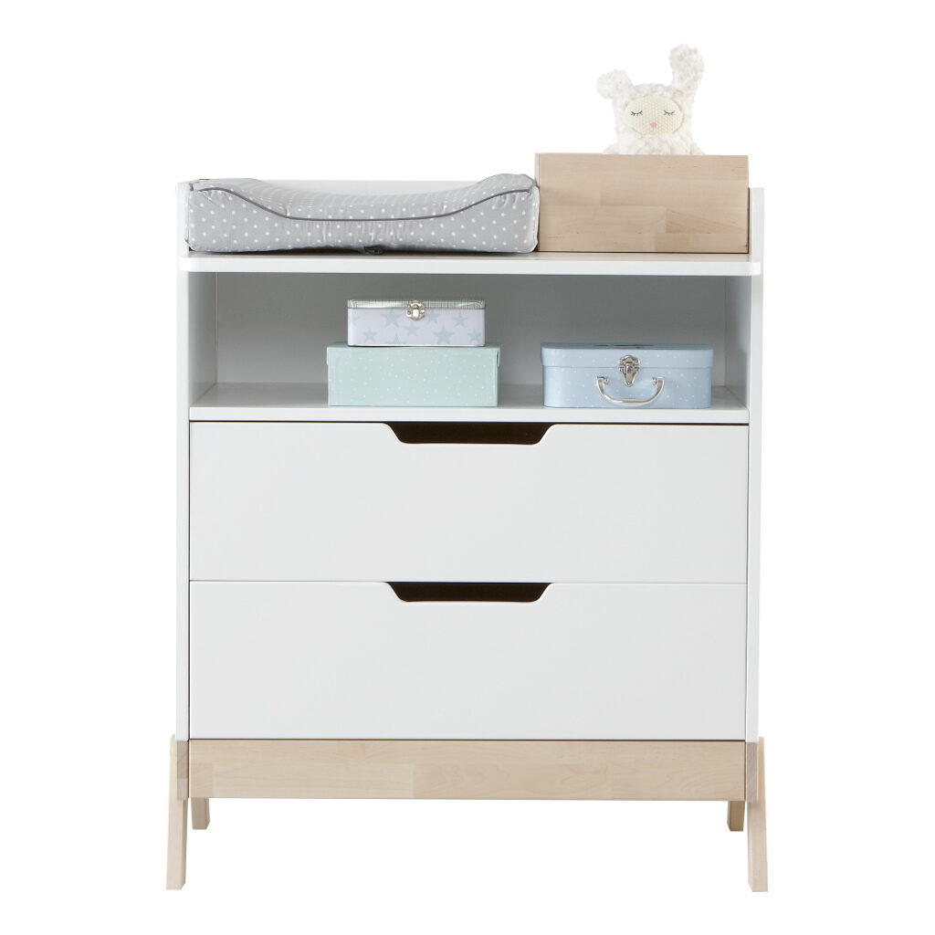 2 In 1 Babycommode En Bureau Lifetime Kidsrooms Commode Omrand Breed Diep Life-7033
