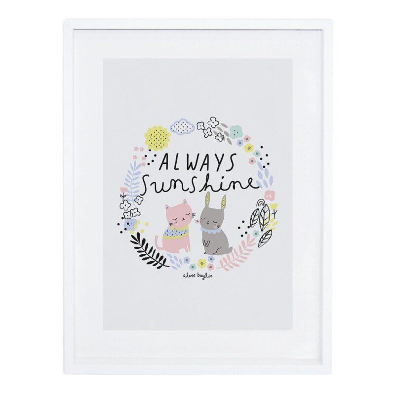 Always Sunshine Poster Happy Clouds Lilipinso Met Lijst Lili-P0198 1024X1024