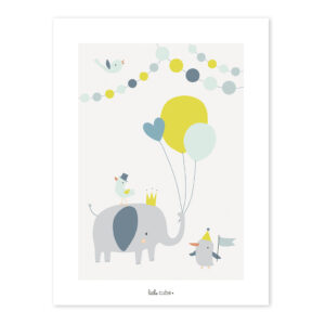 Balloons Boy Poster Animals Party Lilipinso Lili-P0197 1024X1024