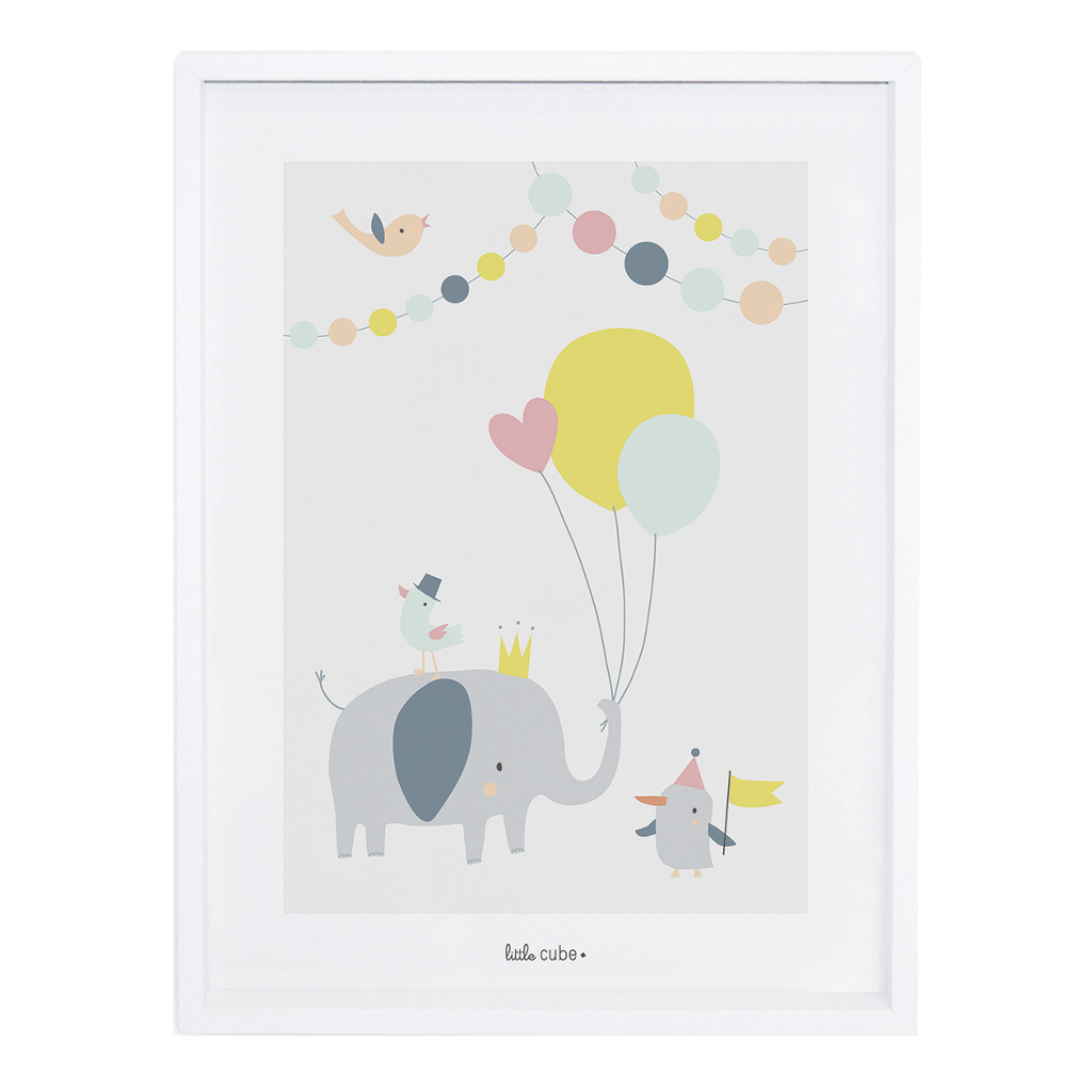Balloons Girl Poster Animals Party Lilipinso Met Lijst Lili-P0196 1024X1024