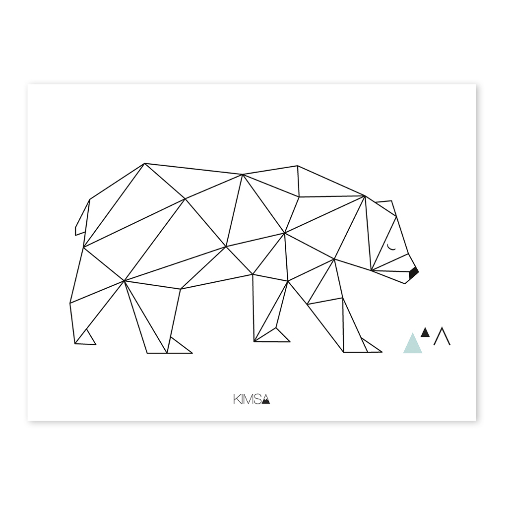 Bear Poster Origami Play Lilipinso Lili-P0182 1024X1024