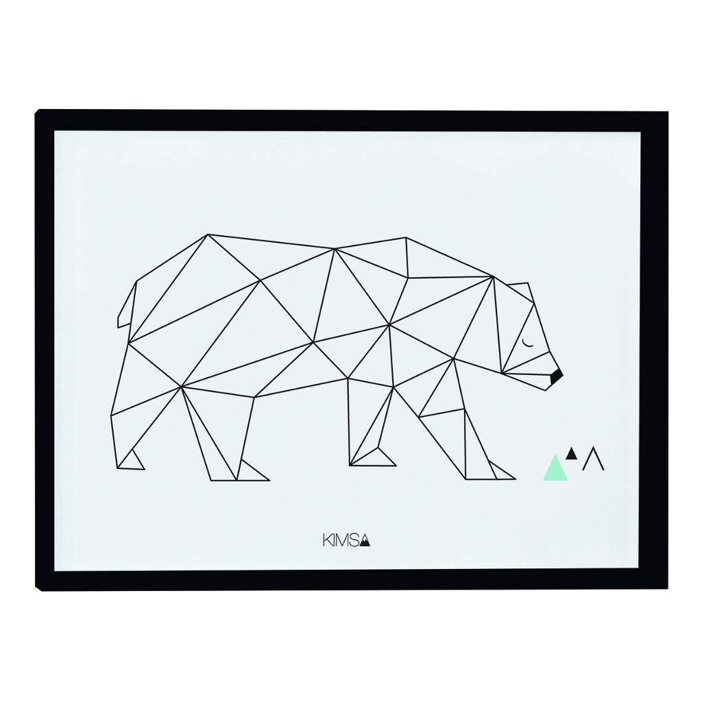 Bear Poster Origami Play Lilipinso Met Lijst Lili-P0182 1024X1024