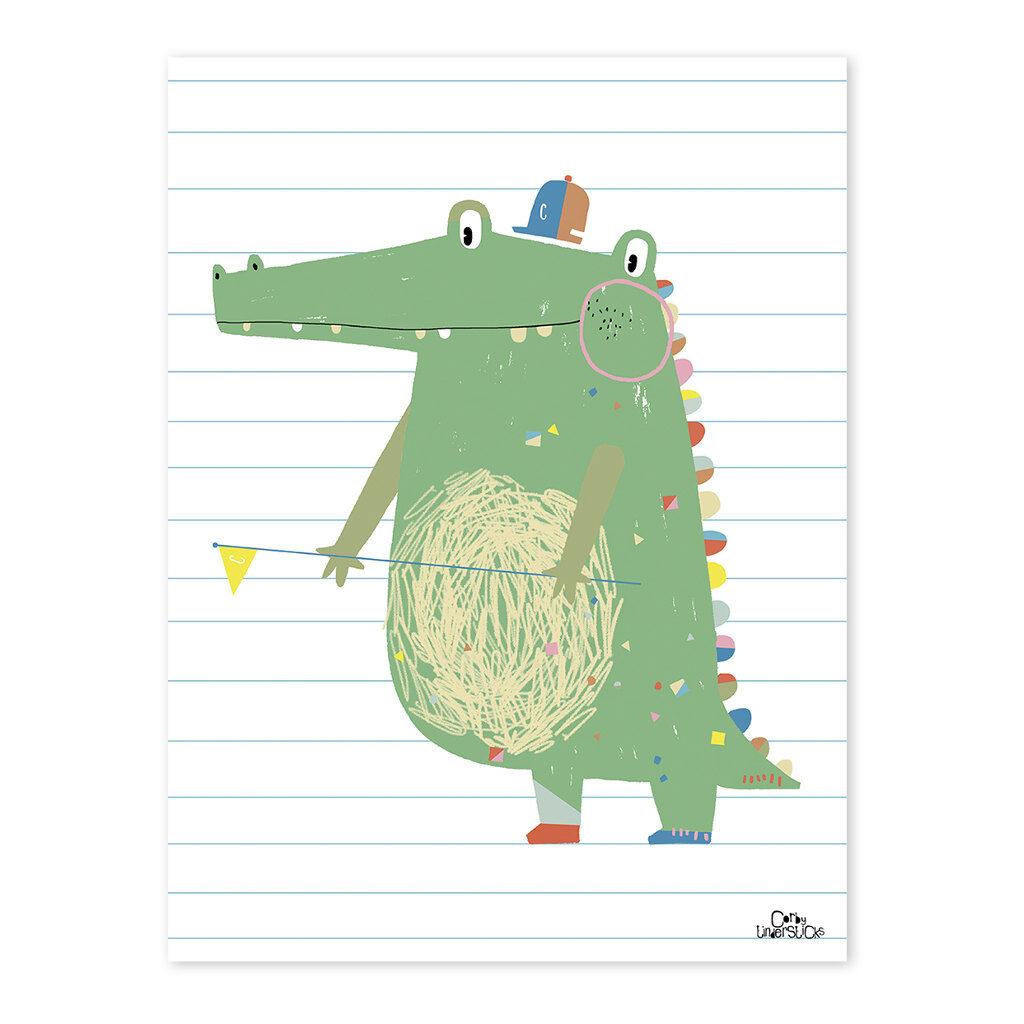 Crocodile Poster Imaginarium Lilipinso Lili-P0188 1024X1024