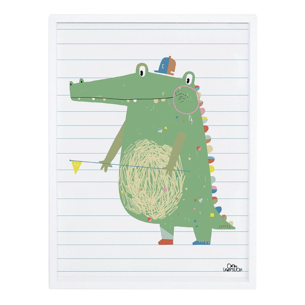 Crocodile Poster Imaginarium Lilipinso Met Lijst Lili-P0188 1024X1024