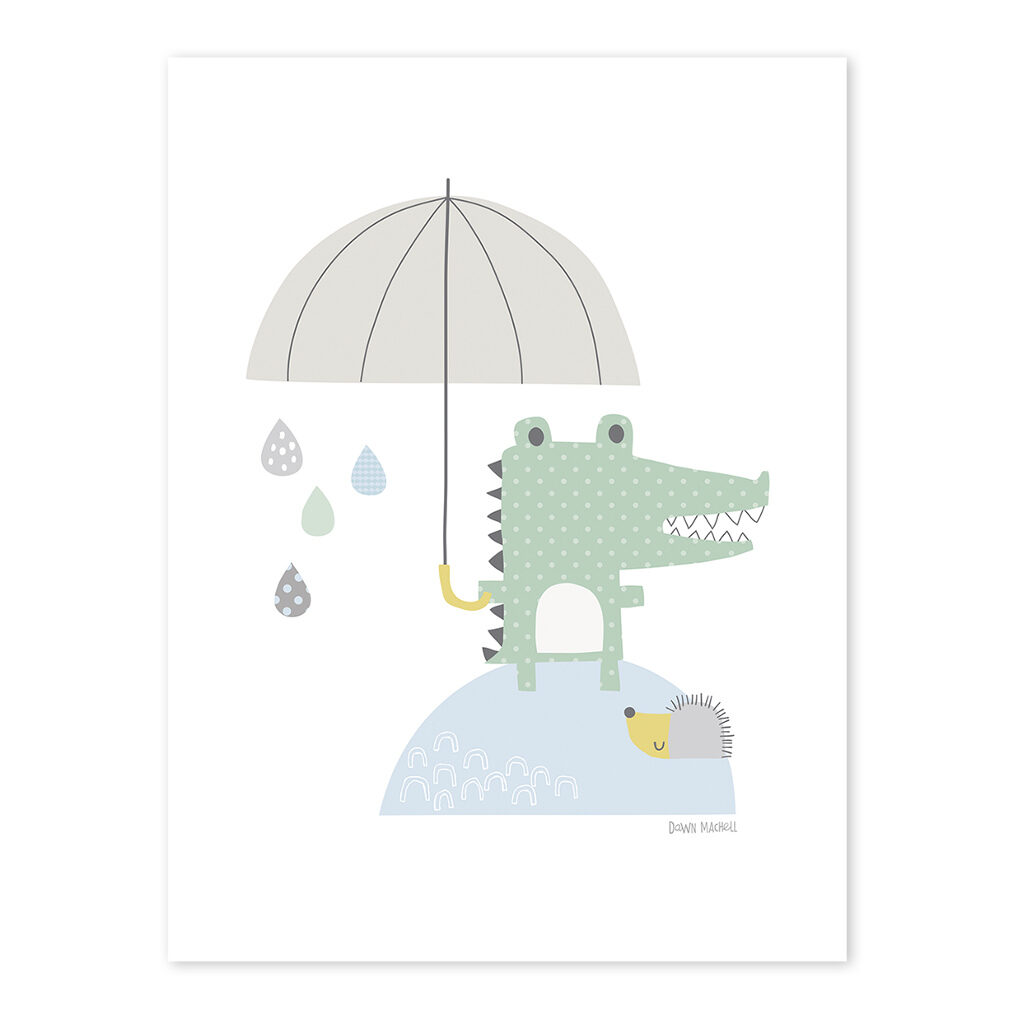 Crocodile Poster Smile, It'S Raining Lilipinso Lili-P0190 1024X1024