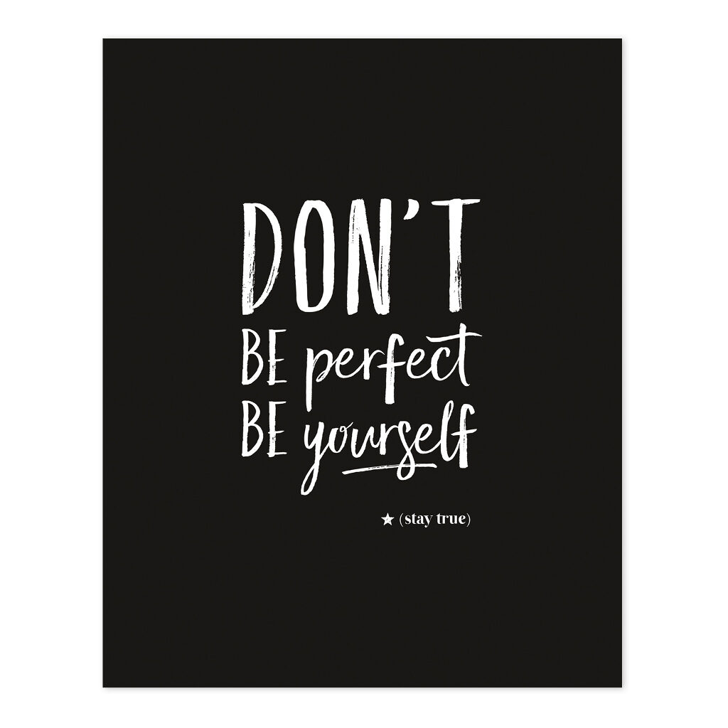 Don'T Be Perfect Poster Rebel Rules Lilipinso Lili-P0226 1024X1024
