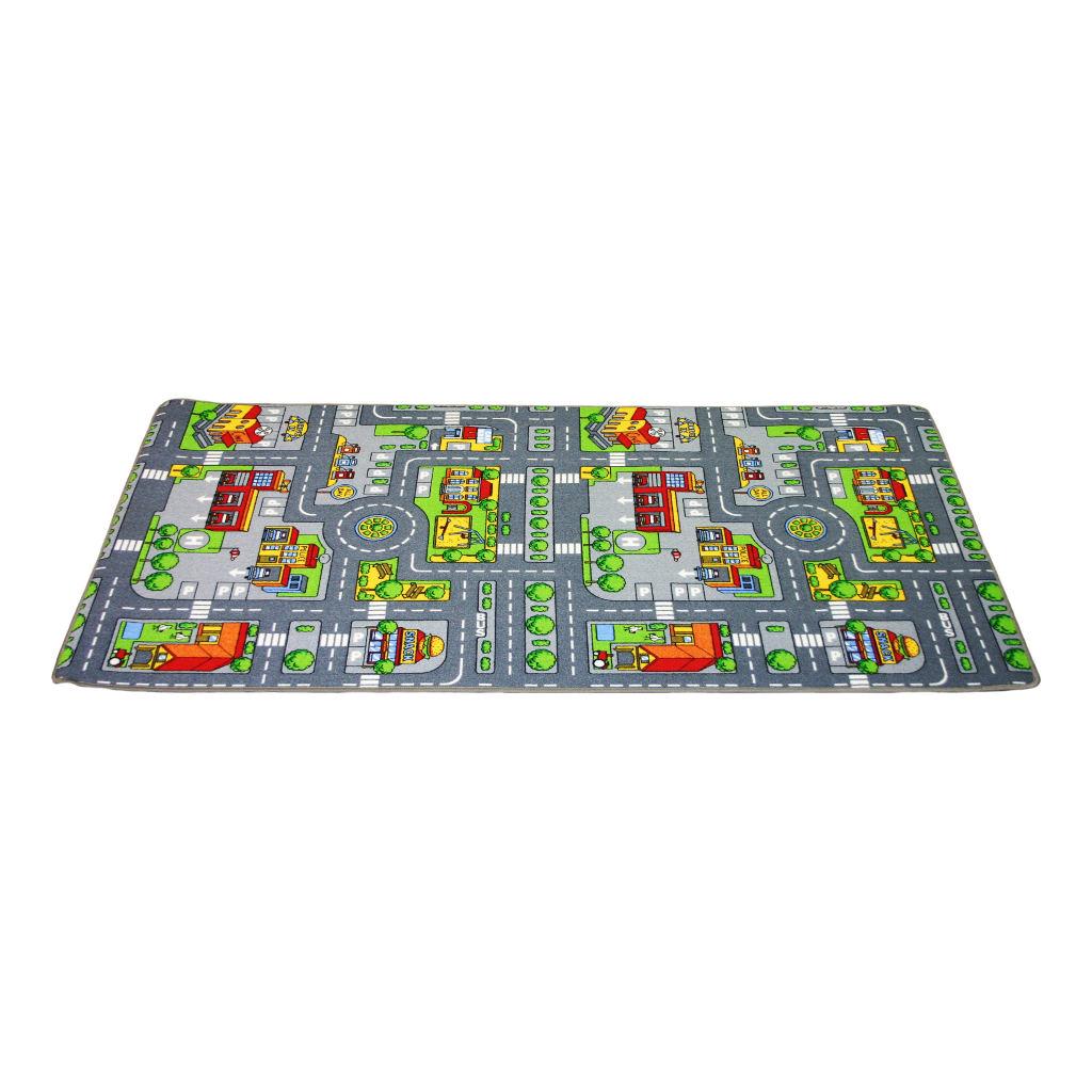 Dubbelzijdige Speelkleed Stad & Land 100 X 190 Cm Edup-110188