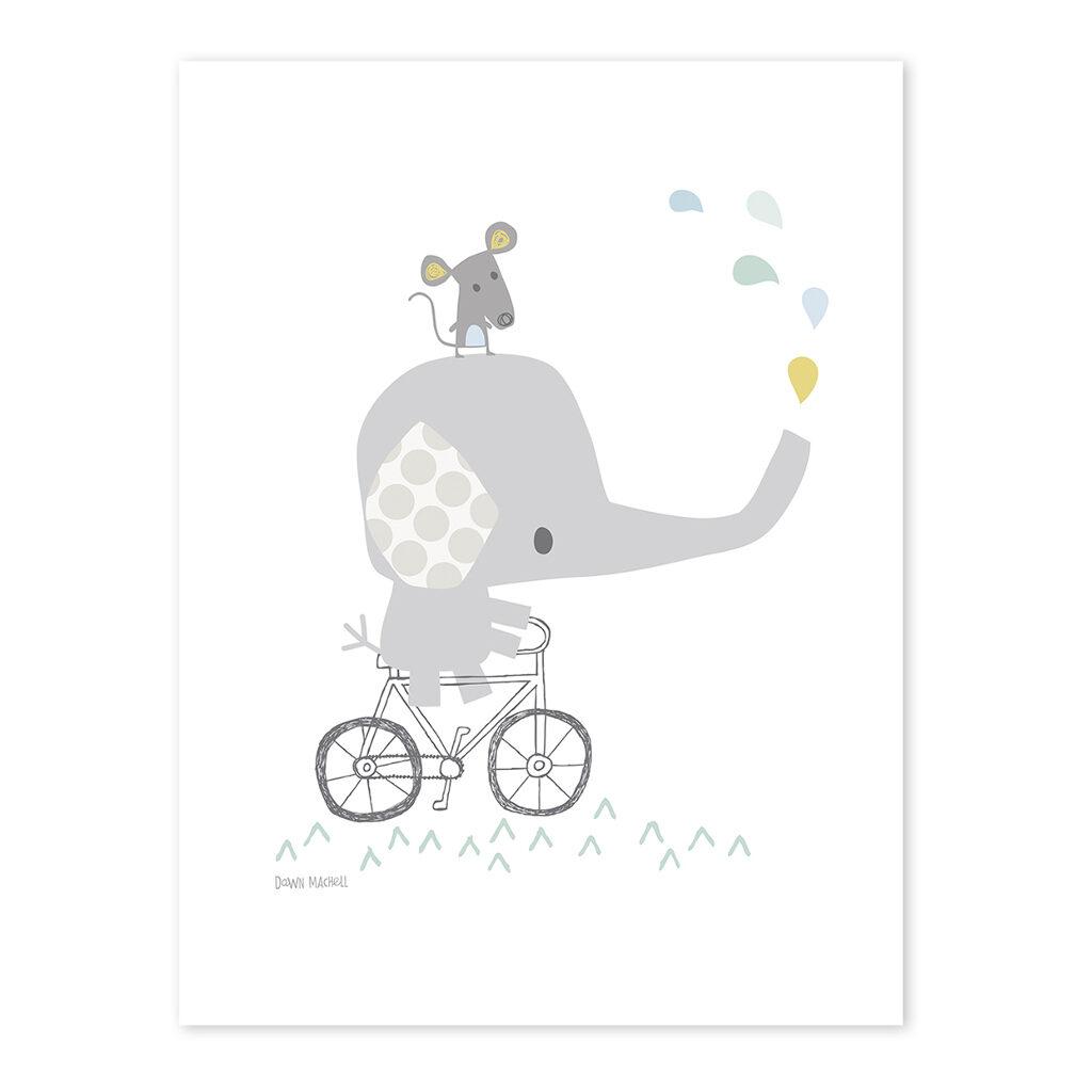 Elephant Poster Smile, It'S Raining Lilipinso Lili-P0189 1024X1024