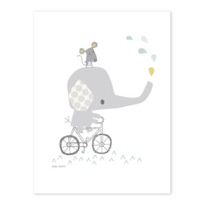 Elephant Poster Smile, It'S Raining Lilipinso Lili-P0189 1024X1024