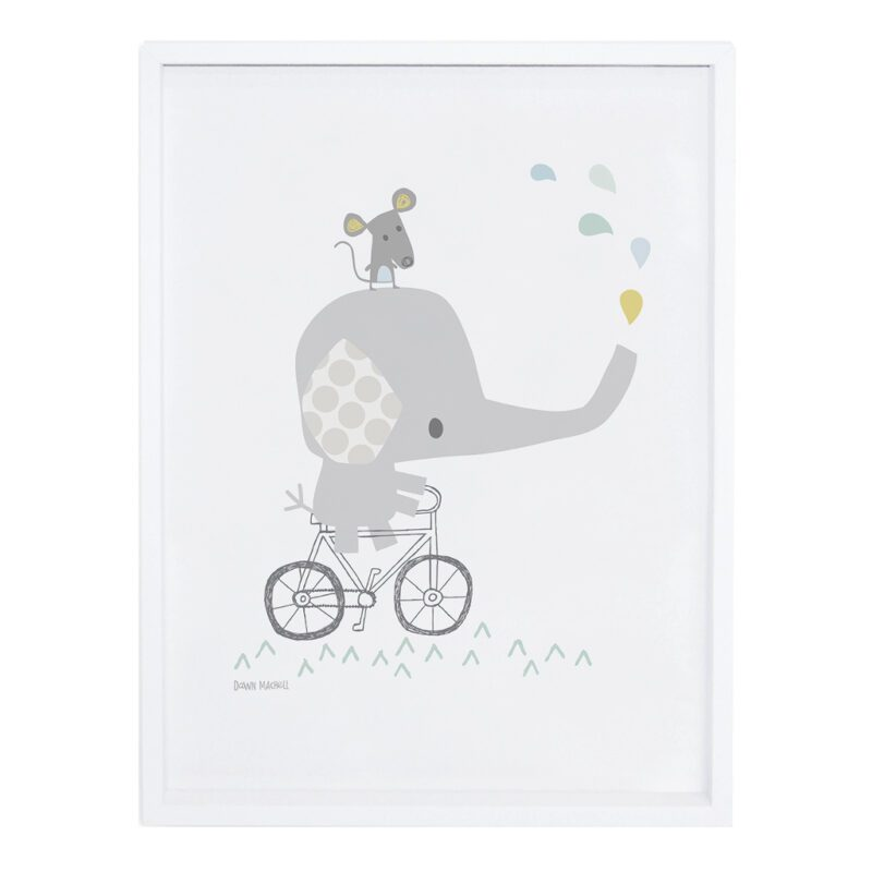 Elephant Poster Smile, It'S Raining Lilipinso Met Lijst Lili-P0189 1024X1024