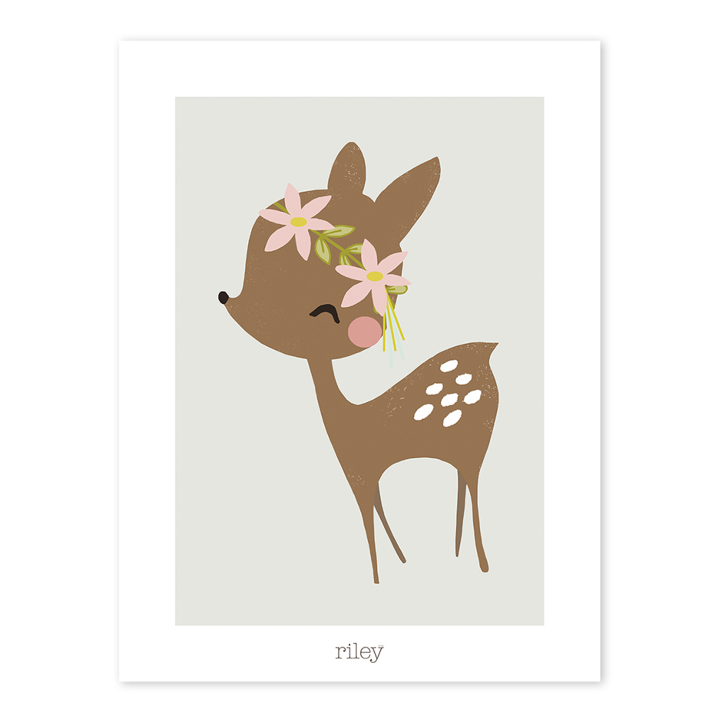 Fawn & Flowers Poster My Lovely Swan Lilipinso Lili-P0179