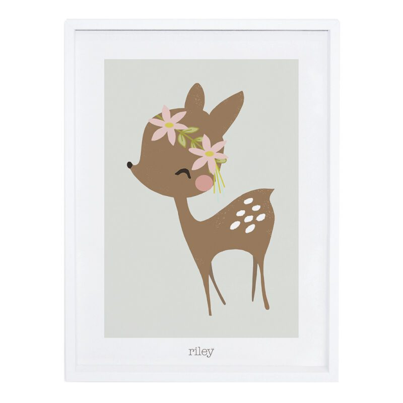 Fawn & Flowers Poster My Lovely Swan Lilipinso Met Lijst Lili-P0179