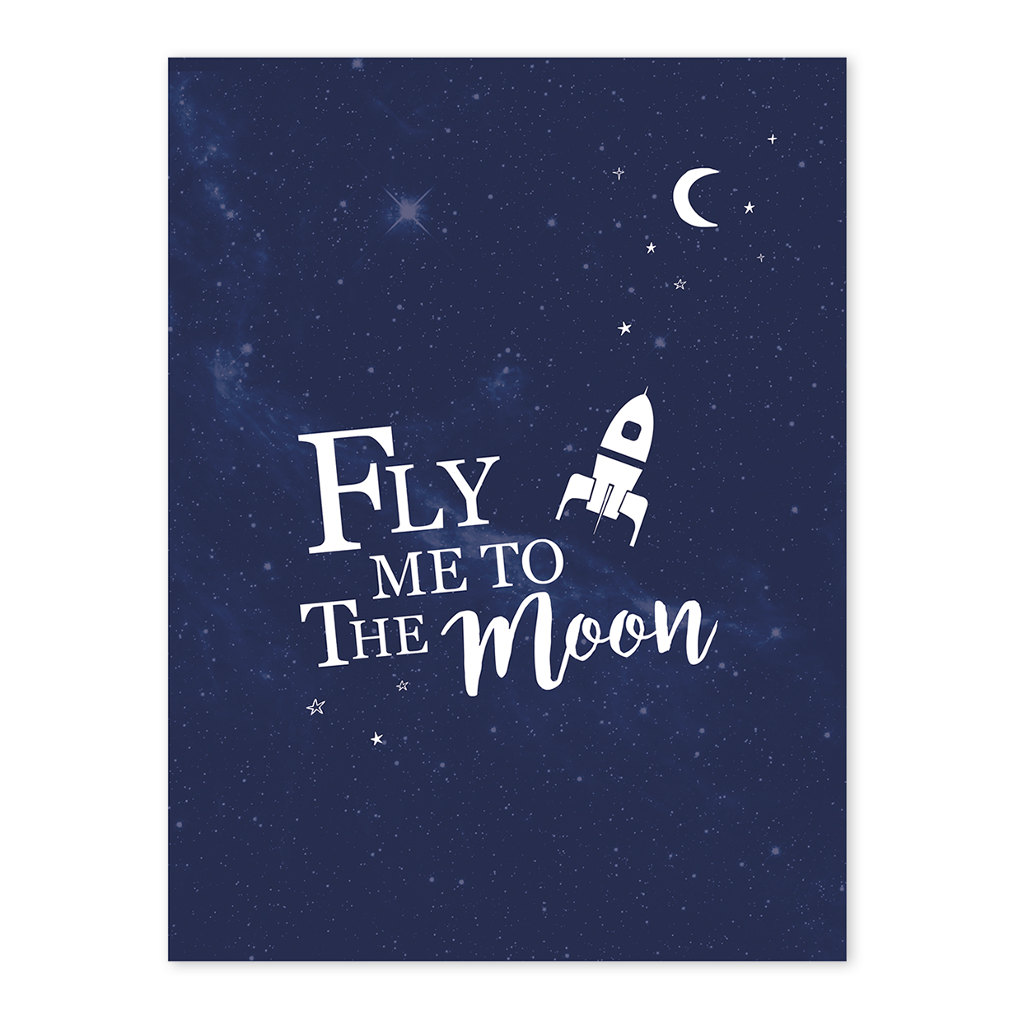 Fly Me To The Moon Poster Lilipinso Lili-P0230 1024X1024