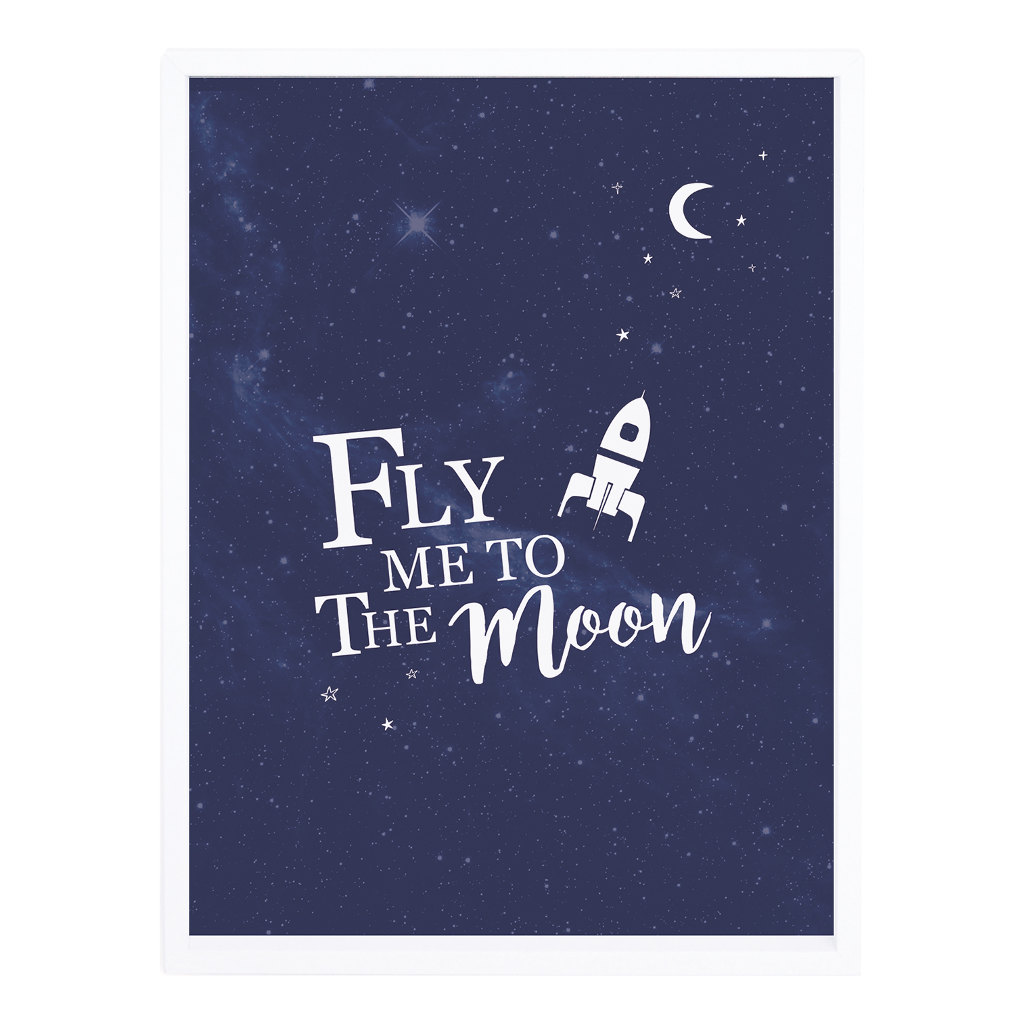 Fly Me To The Moon Poster Lilipinso Met Lijst Lili-P0230 1024X1024