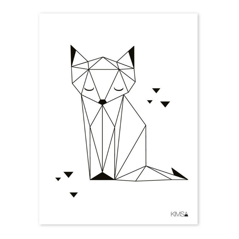 Fox Poster Origami Play Lilipinso Lili-P0183 1024X1024