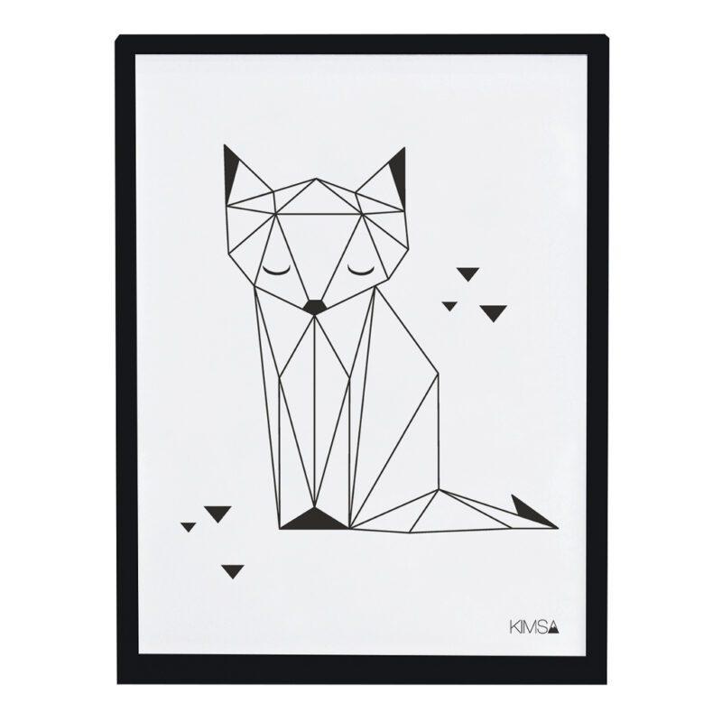 Fox Poster Origami Play Lilipinso Met Lijst Lili-P0183 1024X1024