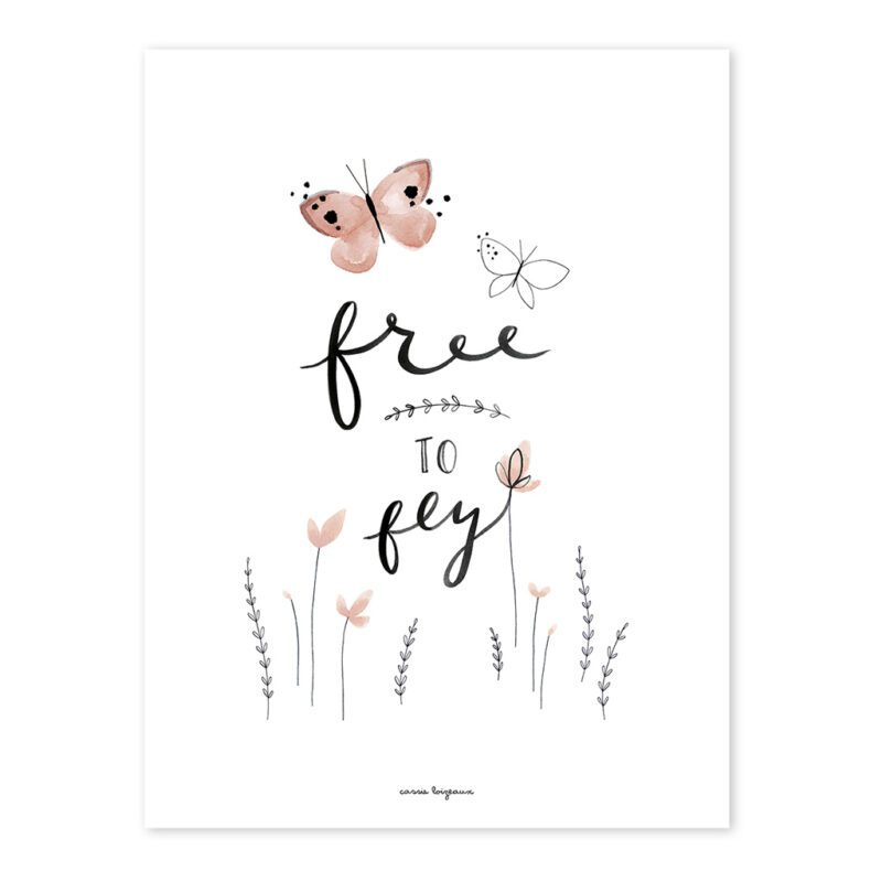 Free To Fly Poster Meadow Treasure Lilipinso Lili-P0220 1024X1024