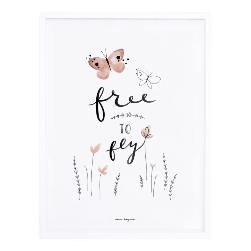 Free To Fly Poster Meadow Treasure Lilipinso Met Lijst Lili-P0220 1024X1024