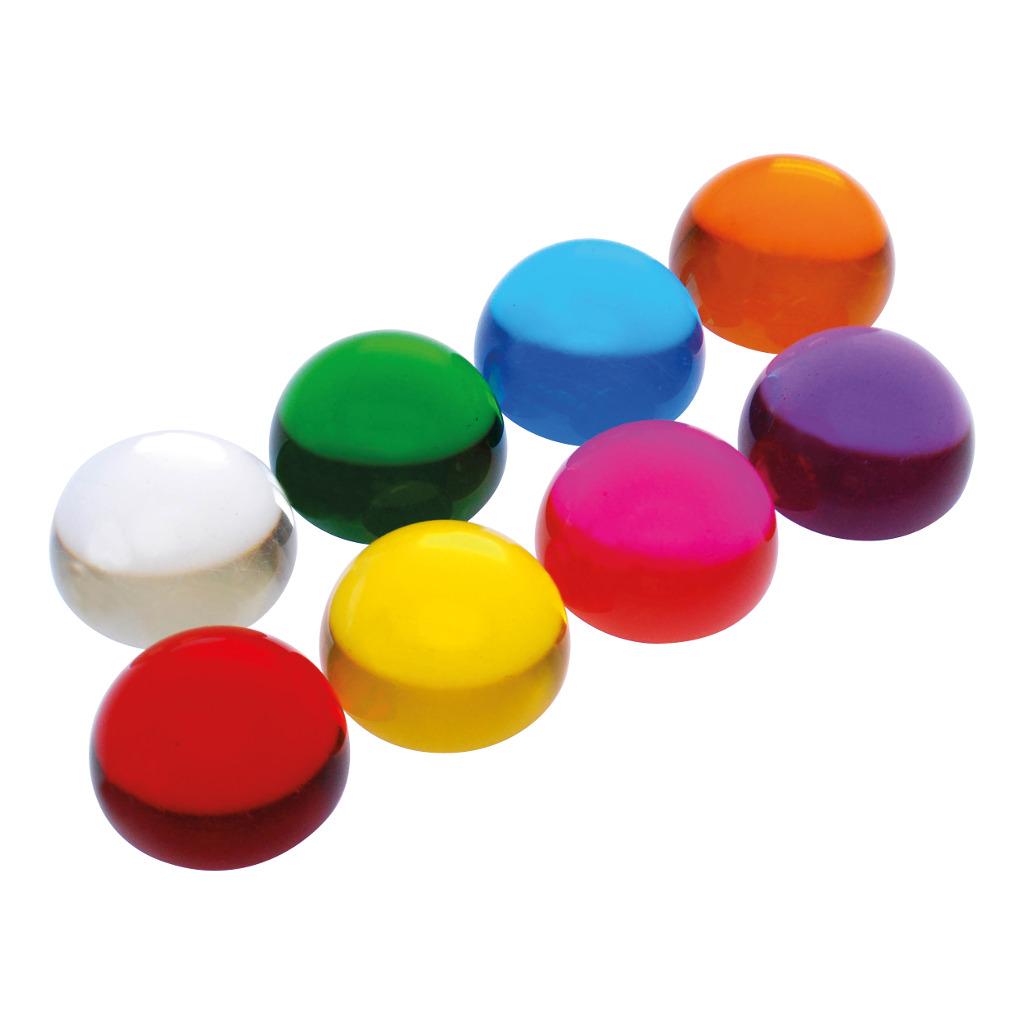 Gekleurde Acryl Ballen Halfrond Set 8 Stuks Edup-110309