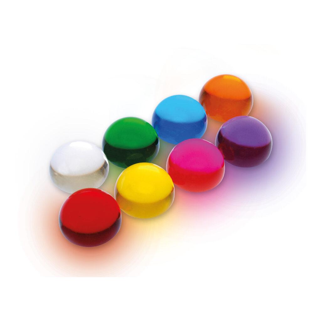 Gekleurde Acryl Ballen Halfrond Set 8 Stuks Verschillende kleuren Edup-110309