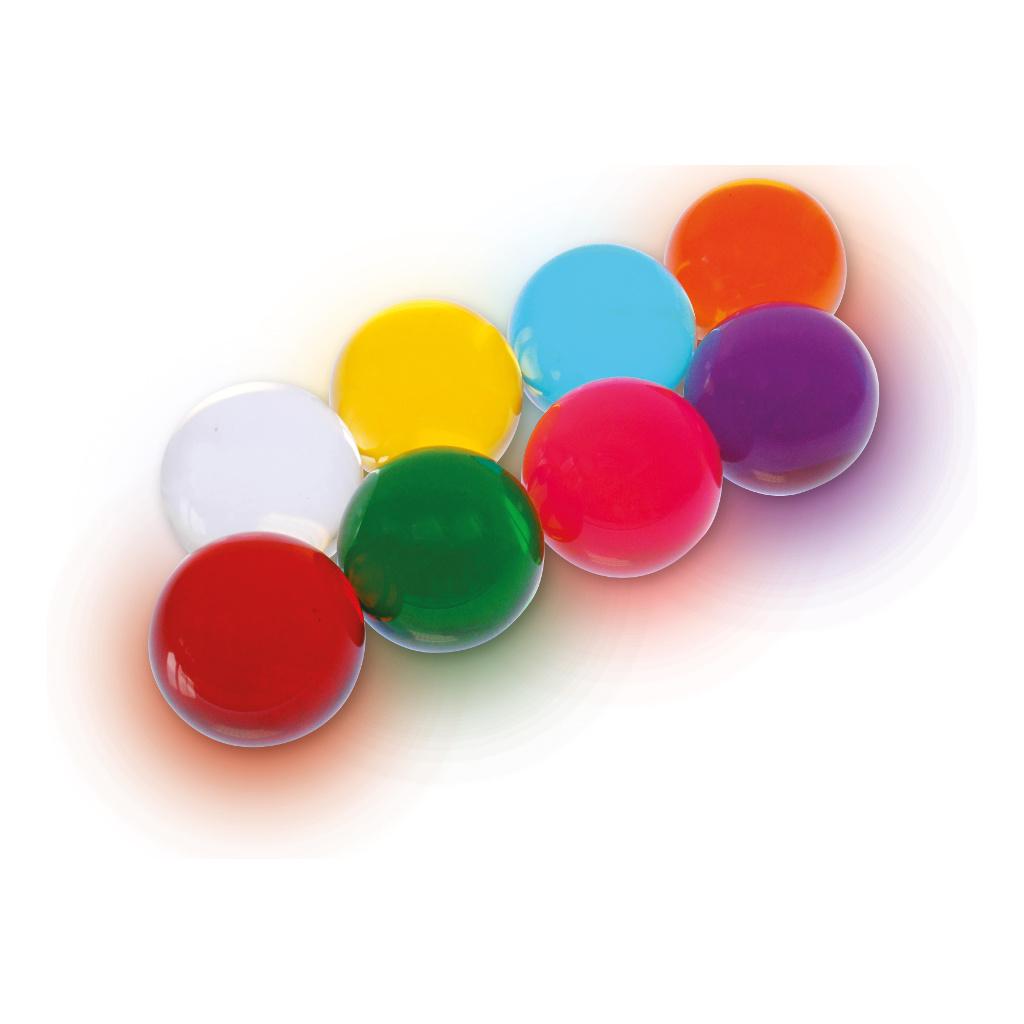 Gekleurde Acryl Ballen Set 8 Stuks Edup-110308