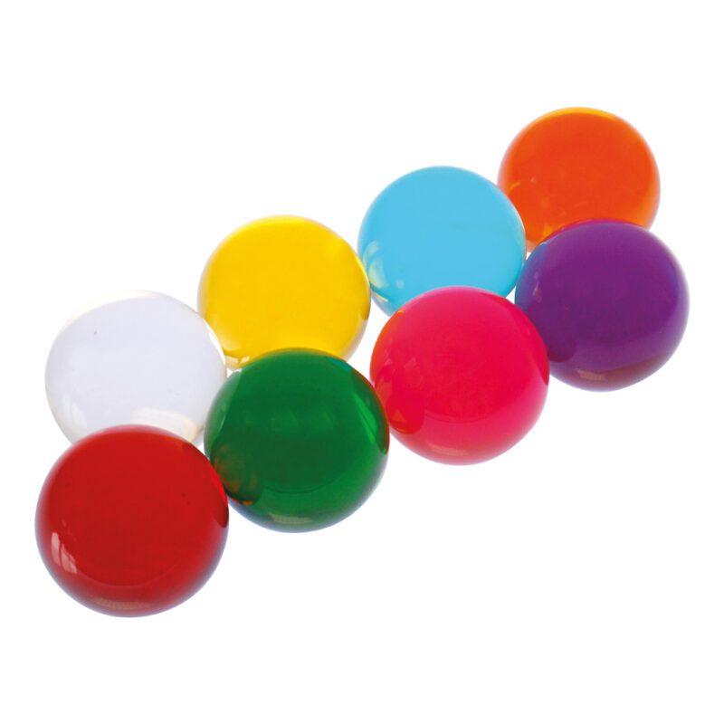 Gekleurde Acryl Ballen Set 8 Stuks Verschillende Kleuren Edup-110308