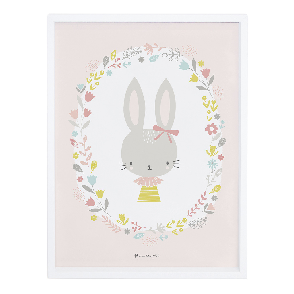 Girl Poster Sweet Bunnies Lilipinso Met Lijst Lili-P0175
