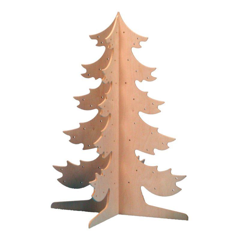 Grote Houten Dennenboom 110 Cm Hoog Thema Boom Versieren Aankleden Edup-110165